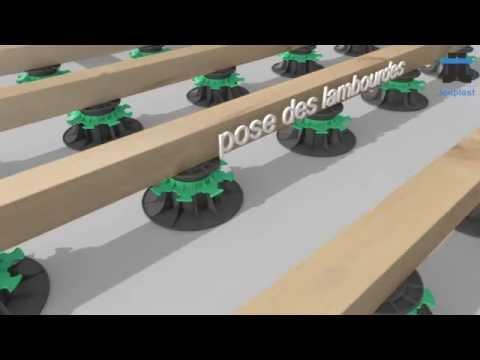 Plot terrasse pose sur plot youtube - Terrasse sur plots reglables ...