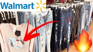 WALMART SHOPPING CLEARANCE CLOTHES NEW SWEATS FACE MASK TOPS HIGH WAISTED JEANS PJ S