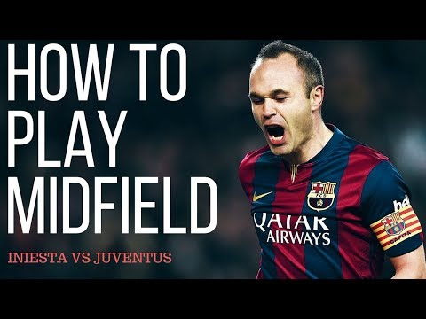 How To Play Center Midfielder In Football - Andres Iniesta Analysis VS Juventus