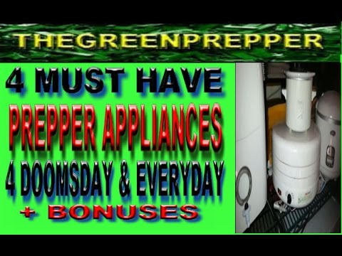 4 PREPPER APPLIANCES FOR DOOMSDAY & EVERYDAY - DOOMSDAY PREPPERS SMALL APPLIANCES + BONUSES