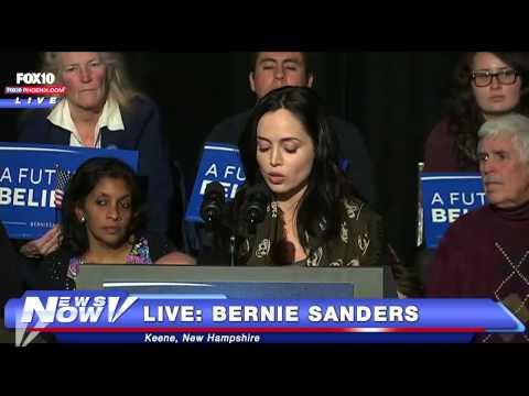 FNN: Actress Eliza Dushku Speaks at Bernie Sanders Event in Keene, NH