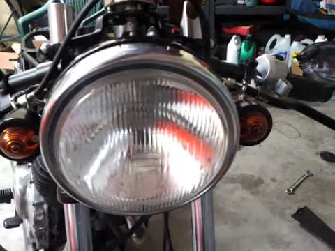 Front wiring done 81 Yamaha XS400 - YouTube