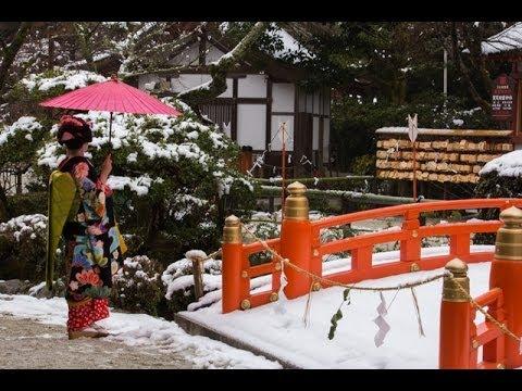 kyoto snowy winter wonderland magic youtube. Black Bedroom Furniture Sets. Home Design Ideas