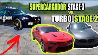 CAMARO SUPERCARGADO STAGE 3 VS BMW M3 STAGE 2 LLEGA LA P0LIC1A    ALFREDO VALENZUELA