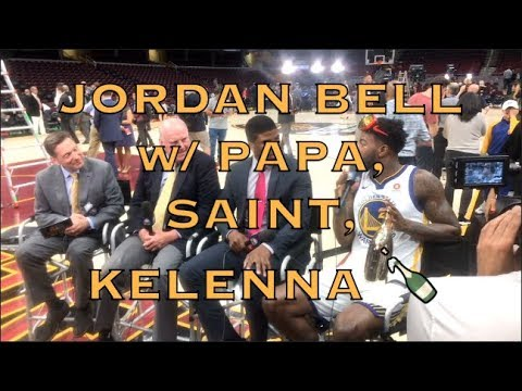 """Jordan Bell before going on LIVE TV: """"If I say anything stupid, please don't post it"""" 😂😂😂"""