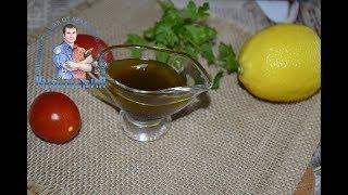 Заправка для овощного салата с оливковым маслом и соевым соусом