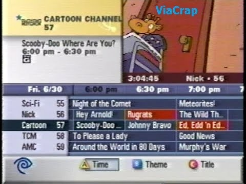 Time Warner Cable Channel Guide - 6/30/2000 (Reupload) - YouTube