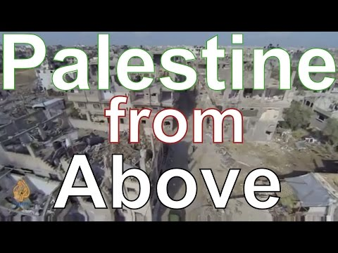 Palestine from drone camera footage - birds eye view