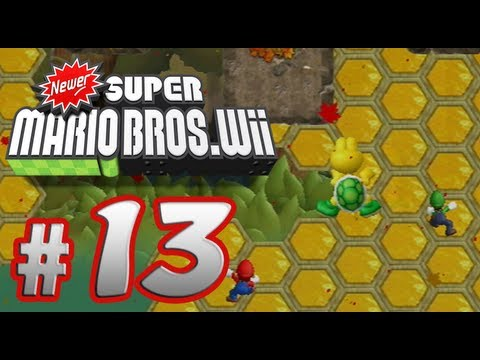Newer Super Mario Bros. Wii - 100% Co-op Walkthrough Part 13