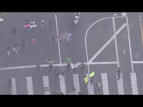 Watch Live: Protesters March In Downtown LA. Http://4.nbcla.com/l9dbKS2