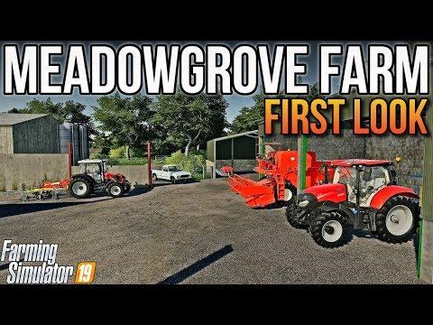 🔴 LIVE: MEADOWGROVE FARM | First Look + Live Q&A | Farming Simulator 19