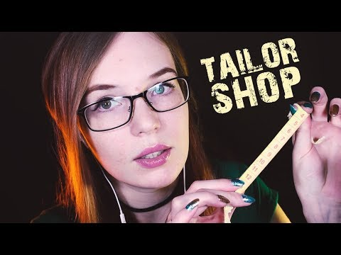 ASMR Measuring Roleplay - Tailor Shop - Personal Attention, Visuals, Soft-Spoken w/Closeup Whisper