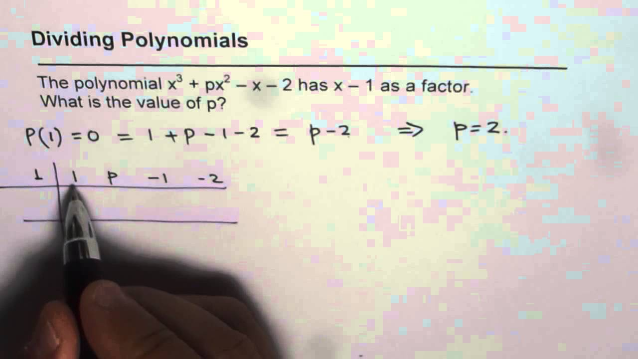 Find Missing Term For Factor Of Polynomial