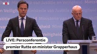 LIVE: Persconferentie premier Rutte over Utrecht