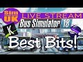 *BEST BITS & WINNERS* - Bus Simulator 18 TWITCH Release Day LIVE Stream & Giveaway