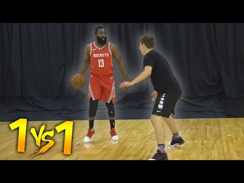 1 V 1 BASKETBALL VS NBA SUPERSTAR JAMES HARDEN!