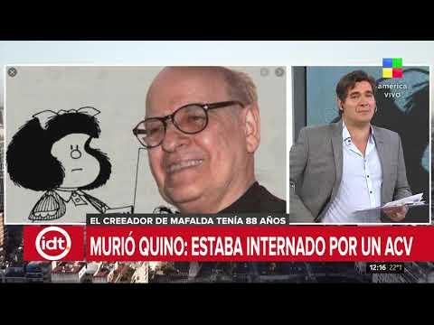Dolor por la muerte de Quino, el creador de Mafalda