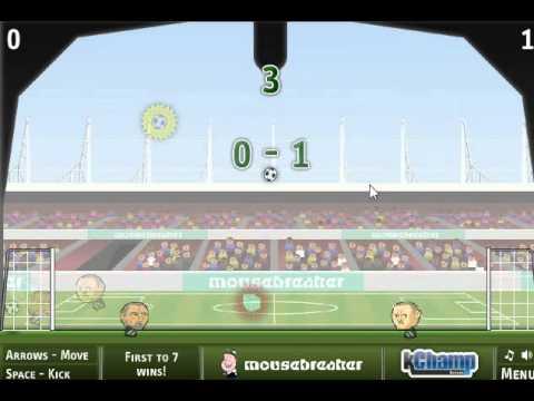 Прохождение игры Футбол головами часть 1.