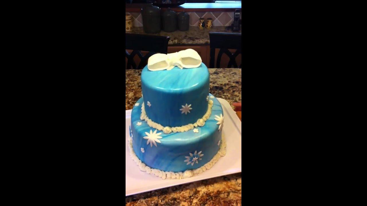 Winter Themed Birthday Cake Youtube