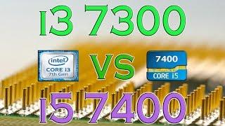 i3 7300 vs i5 7400 benchmarks gaming tests review and comparison kaby lake vs kaby lake