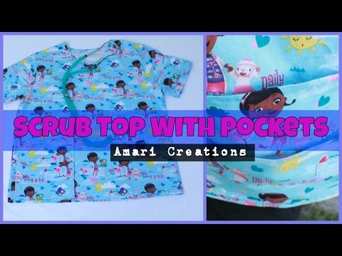 Scrub Top With Pockets/Amari Creations