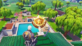 "WEEK 2 ""SECRET"" BATTLE STAR LOCATION!! (Fortnite Season 5 Challenges All Complete)"