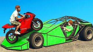 GTA 5 STUNTS MIT RAMPENAUTO & MOTORRAD! (GTA 5 Online)