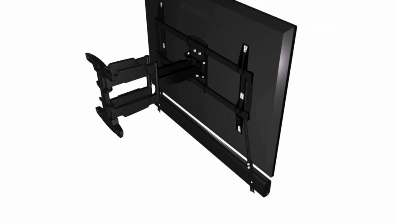 how to install the lithe audio universal sound bar bracket 06400 youtube. Black Bedroom Furniture Sets. Home Design Ideas
