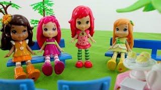 Мультики для девочек.   Куколки Земляничка, Малинка и Лимоша на пикнике.