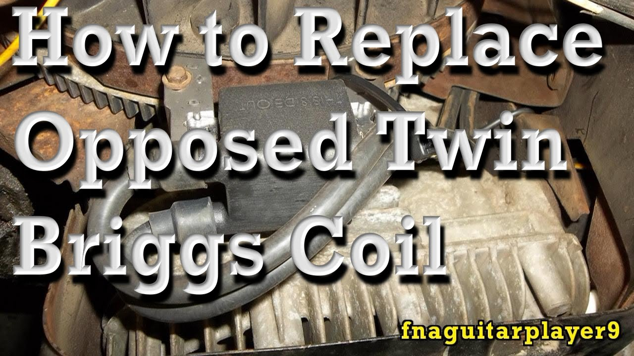 How to Replace Coil (Magneto / Magnetron) on Opposed Twin Briggs ...