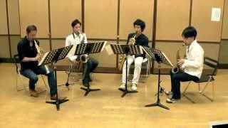 F. Chopin - Etude op.10 No.3 E-dur:Lento,ma non troppo|ショパン「別れの曲」|ATOM SAXOPHONE QUARTET