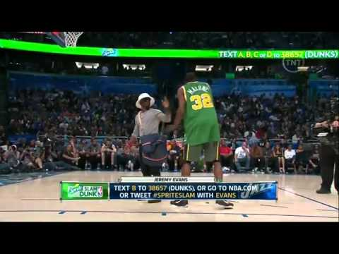1080P HD Jeremy Evans Dunks Over Kevin Hart 2012 NBA Slam Dunk Contest   YouTube