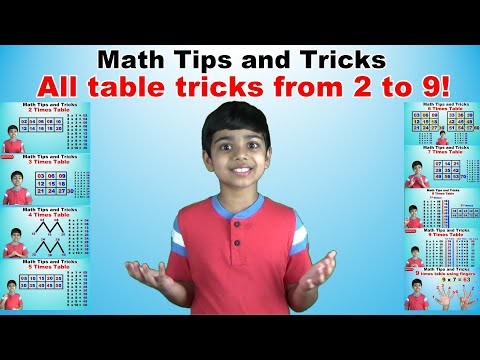 Learn 2 to 9 Times Multiplication Tricks | Easy and fast way to learn | Math Tips and Tricks