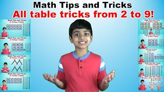 Learn 2 to 9 Tiṁes Multiplication Tricks | Easy and fast way to learn | Math Tips and Tricks