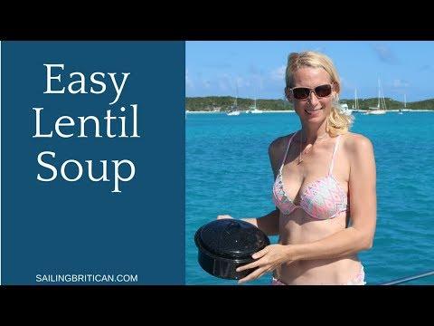 Easy Lentil Soup using a Solar Cooker | Sailing Britican