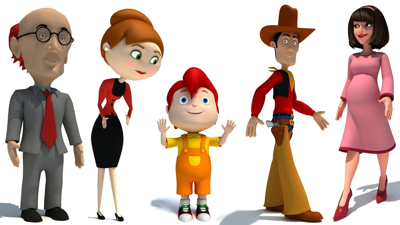 Cartoon Characters 3d Model : Rigged cartoon characters d models youtube