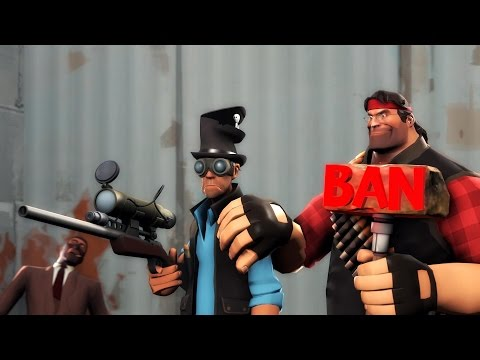 Team Fortress 2 - Funny script kiddie with lame hacks