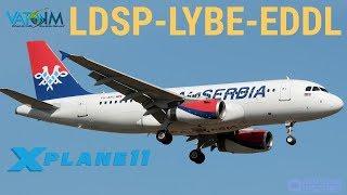 Download ✈️TOLISS A319 Air Serbia Ops || Split - Belgrade