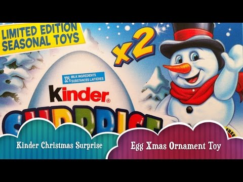 Kinder Surprise Limited Edition Christmas Eggs Surprise Toys Collector's Kinder Eggs