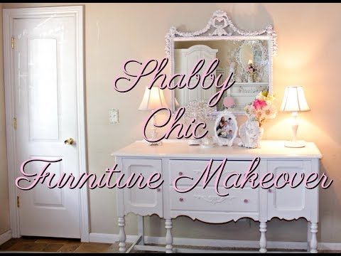 SHABBY CHIC WHITE PAINT FURNITURE MAKEOVER PROJECT/diy motivation