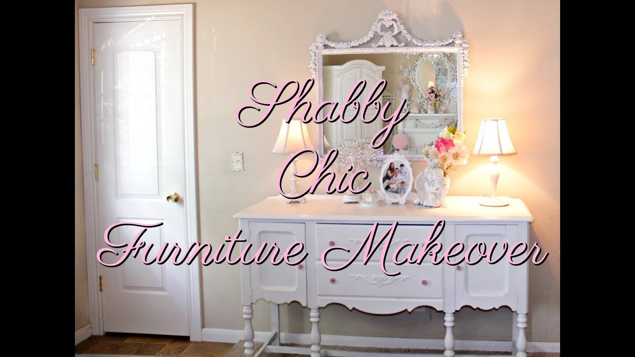 Shabby Chic White Paint Furniture Makeover Project Diy Motivation