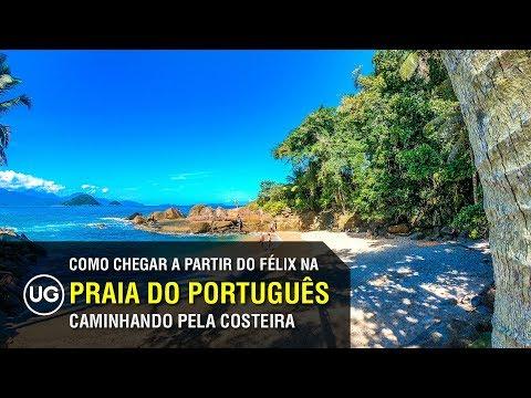 Como chegar na Praia do Português em Ubatuba: Caminho completo da costeira do Félix ao Português