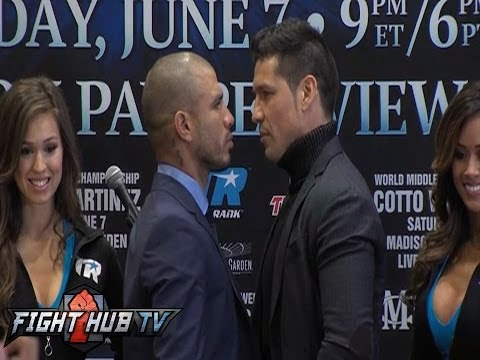 Miguel Cotto vs. Sergio Martinez New York press conference video highlights