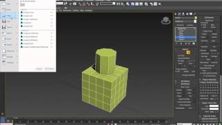 3D Max | Speed Tuto make circular geometry in planar surfaces (geopoly)