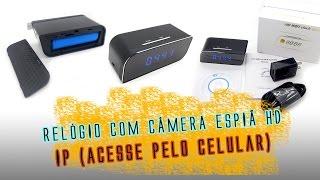 Relógio com camera escondida (espiã) IP - Review