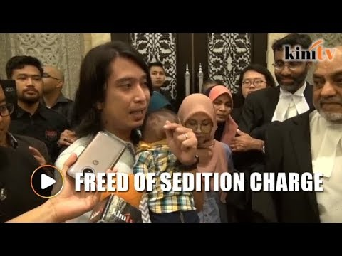 Tears of joy as Adam Adli freed of sedition charge