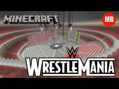 WWE: Wrestlemania 17 (X-Seven) Arena in Minecraft!