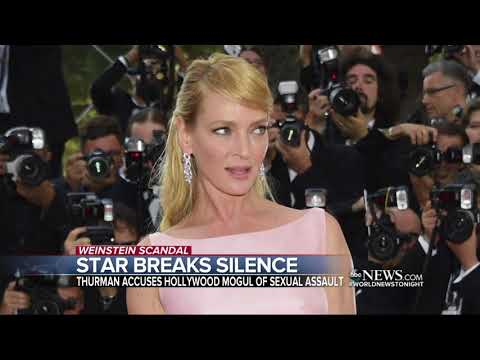 Uma Thurman speaks out against Harvey Weinstein to NY Times columnist