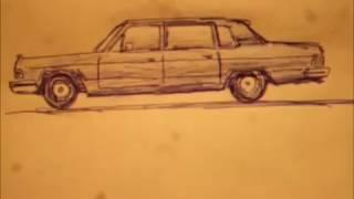 Как рисовать чайку .Чайка. ГАЗ -14. автомобиль.
