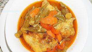 How to make sauce Kalalou (Haitian Gumbo)| Manje Boubout